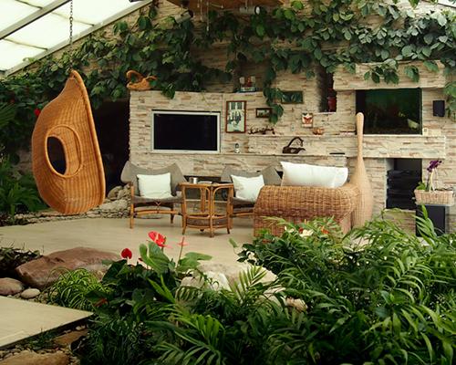 Дизайн зимнего сада Этнический стиль